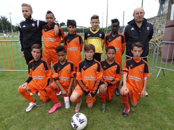 Les U12 du FC Lorient en 2016.