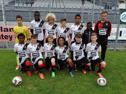 Les U12 du Stade Rennais en 2016.