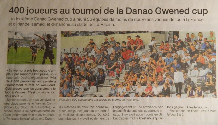 Ouest France Vannes - 25 Mai 2015