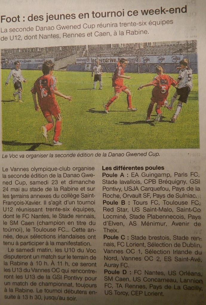 Ouest France Vannes - 20 Mai 2015
