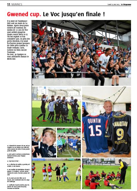 Le Télégramme Vannes - 25 mai 2015.